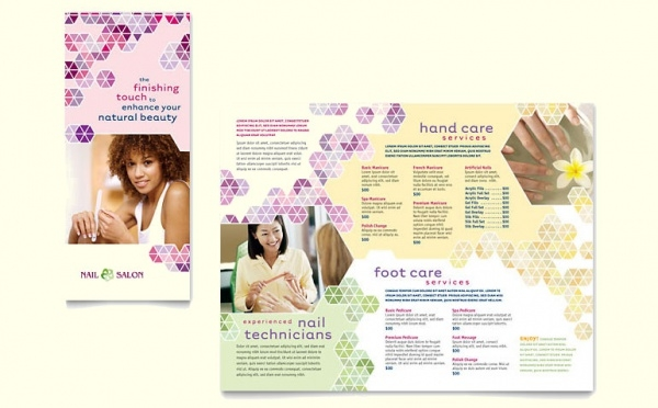 Nail Salon Brochure Template