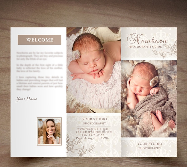 Newborn Photography Trifold Brochure
