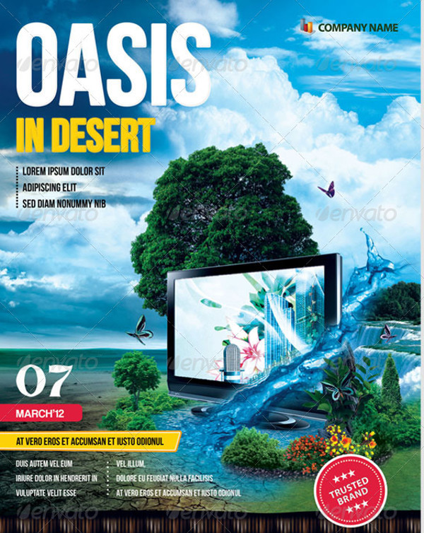 Oasis In Desert Advertising Flyer