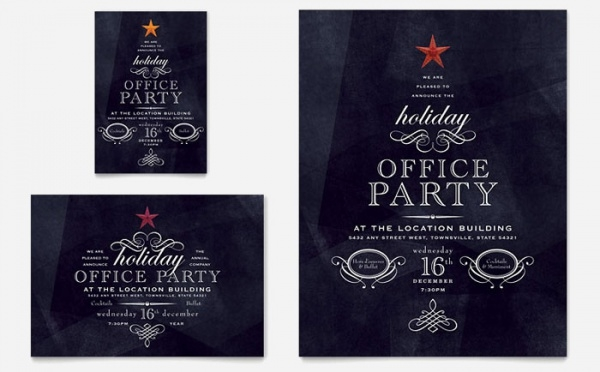 Office Holiday Party brochure
