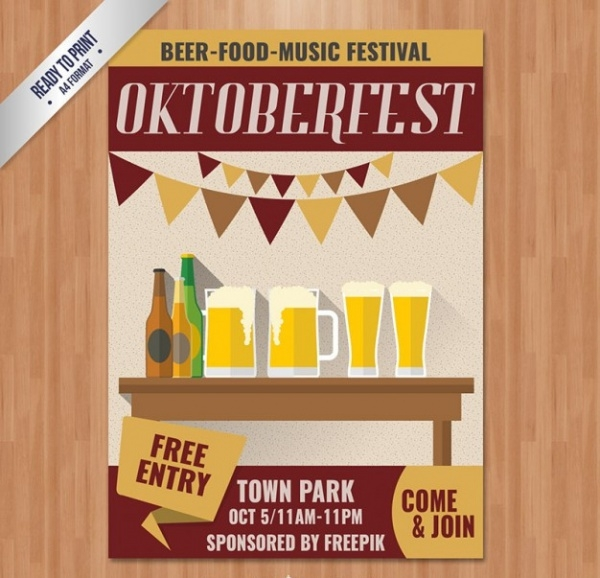 Oktoberfest Poster Invitation Bar Flyer