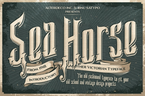 Old Fashioned Sea Horse typeface