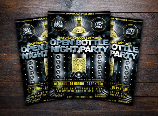 Open Bar Modern Flyer