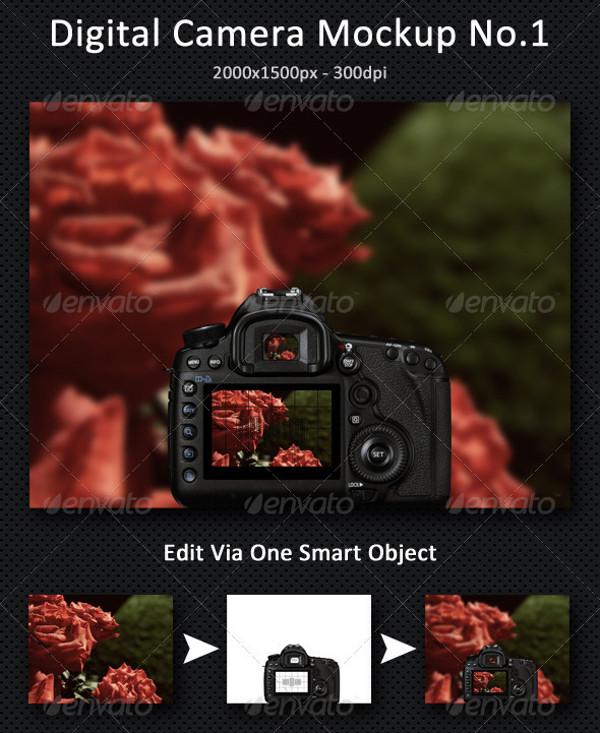 Optical Digital Camera Mock-Up