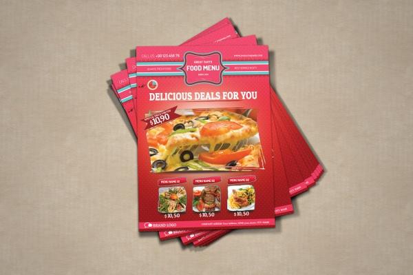 Organic Food Flyer Design