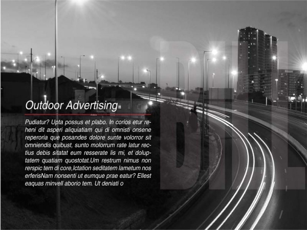 Outdoor Advertising Billboard Brochure
