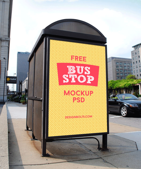 outdoor advertising bus shelter mock up1