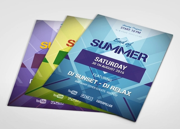 Geometric Flyers  Psd Vector Eps Jpg Download