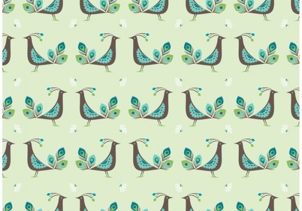 Peacock Vector Seamless Pattern