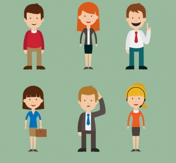 People Cartoon Free Vector