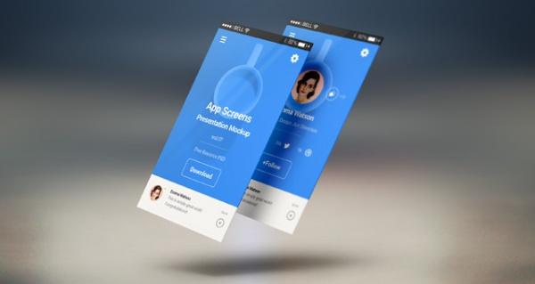 Perspective App Screens Mock-Up