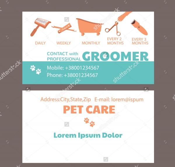 Pet Grooming Brochure Design