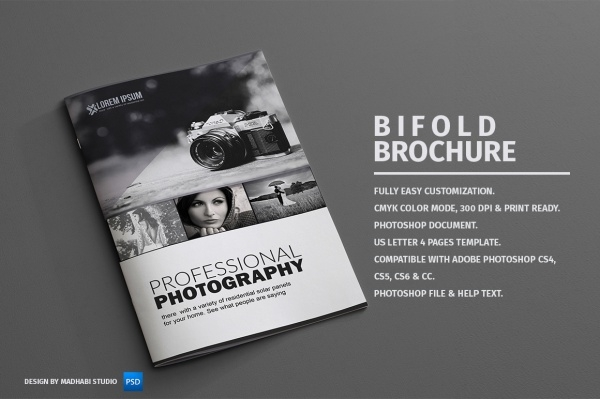 Photography Bi-fold Brochure Design