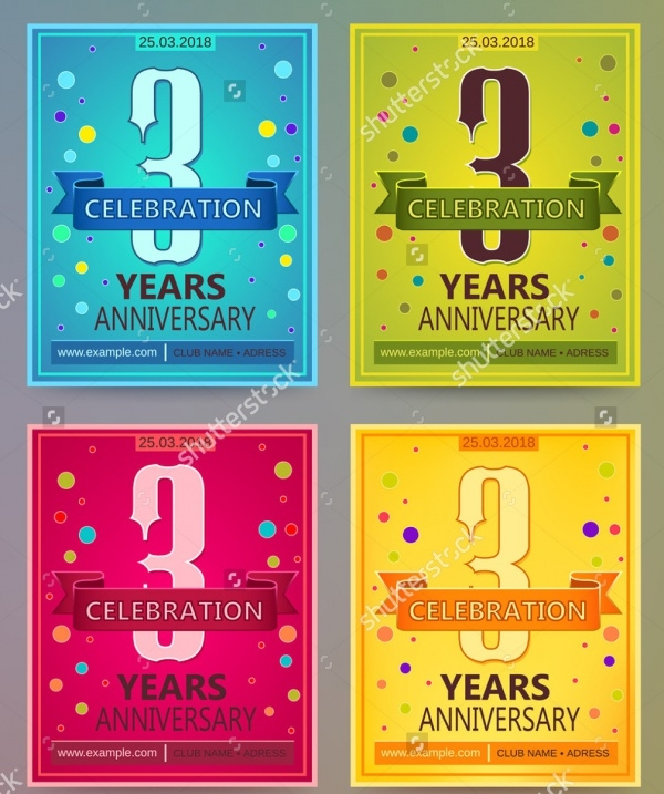 Colorful Anniversary Flyers Layout
