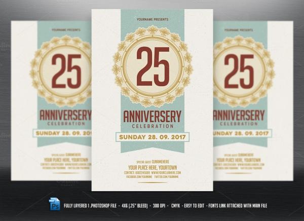 Photoshop Layered Anniversary Flyer