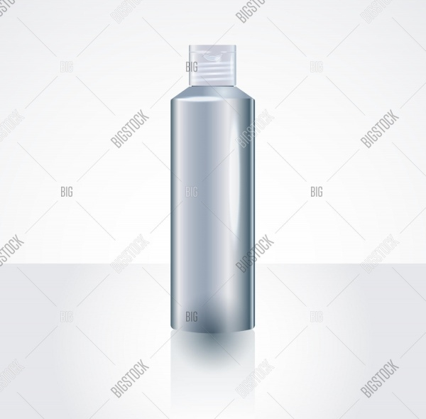 Plastic Shampoo or shower gel Bottle Package MockUp