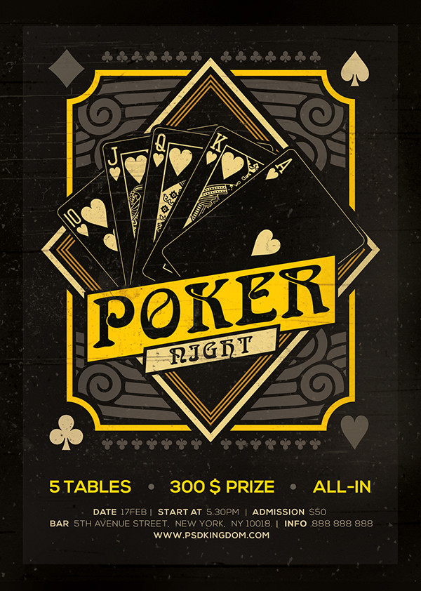 Poker Night Black Jack Template