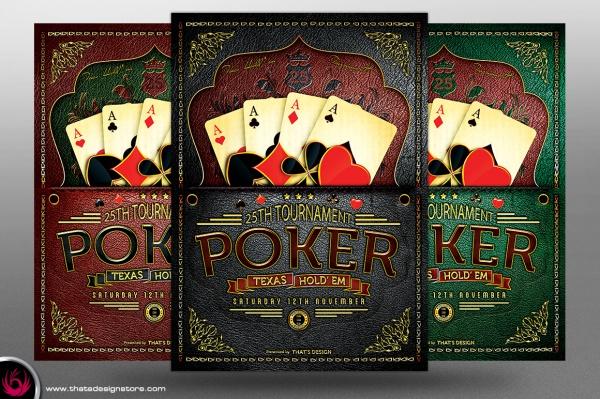 Casino Flyer Templates PSD Vector EPS JPG Download - Poker tournament flyer template word