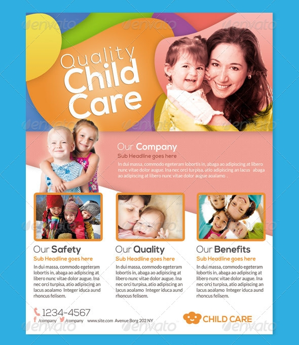 Daycare Flyers  Psd Vector Eps Jpg Download