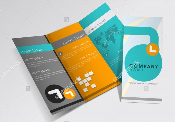 professional business three fold brochure