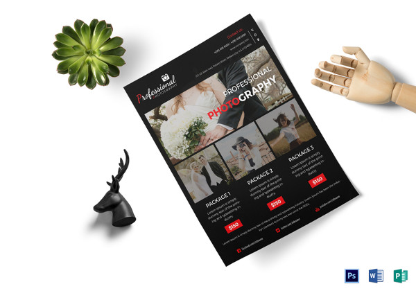 Professional Photography Agency Flyer Template