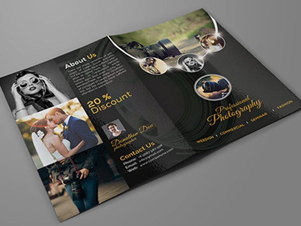 Professional Photography Bifold Brochure