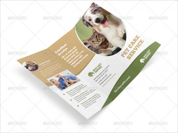 Professional Trifold Brochure For Pet Care