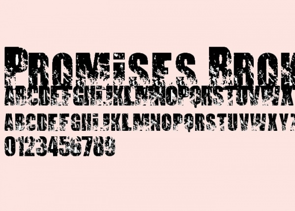 Promises Broken Dream Font