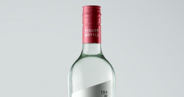 Psd Liquor Glass Bottle Mockup