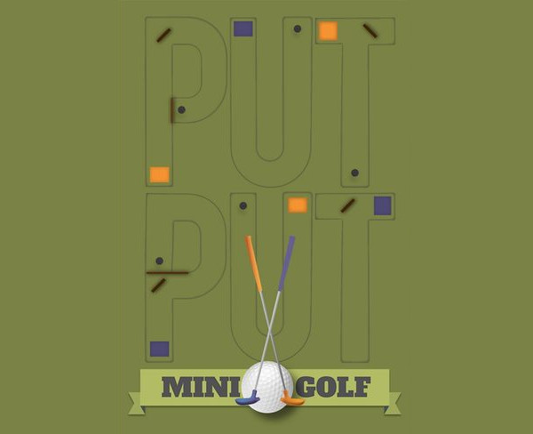 Put Put Mini Golf Vector