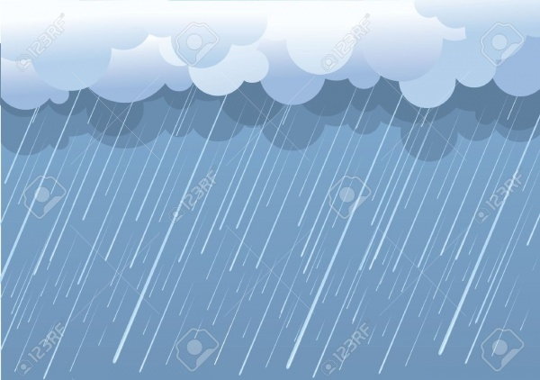 Rain Vector In Dark Clouds