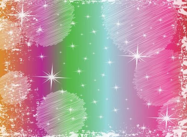 Rainbow Gradient Stars Texture