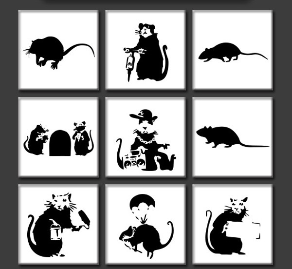 Rat Custom Shapes Patterns
