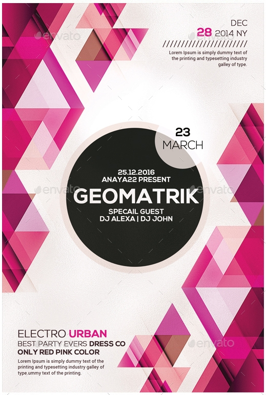 Realistic Geometric Flyer Design