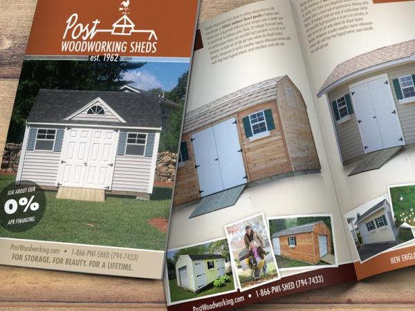 Rendering Woodworking Rustic Brochure