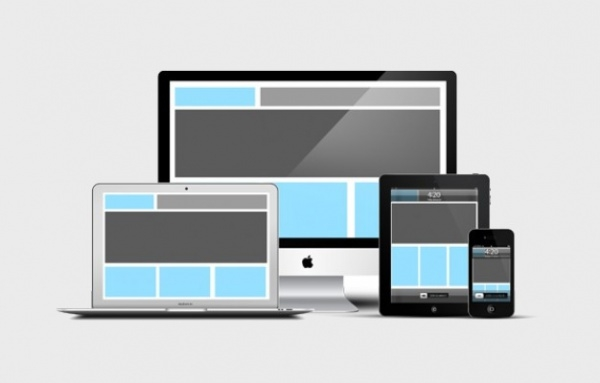 Responsive Devices PSD Mock-up
