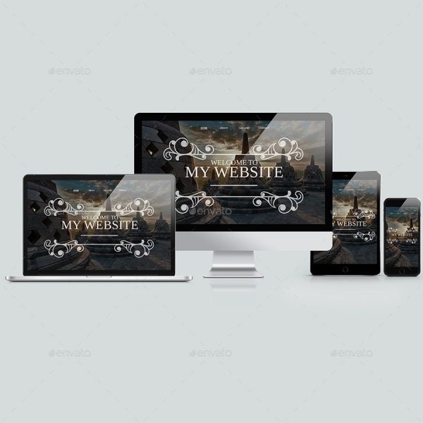 Responsive Website Mock-up Design