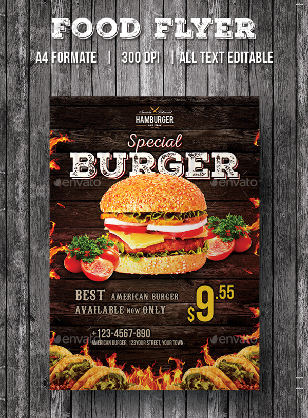 Restaurant Fast food Flyer