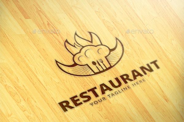 Restaurant PSD Logo Design