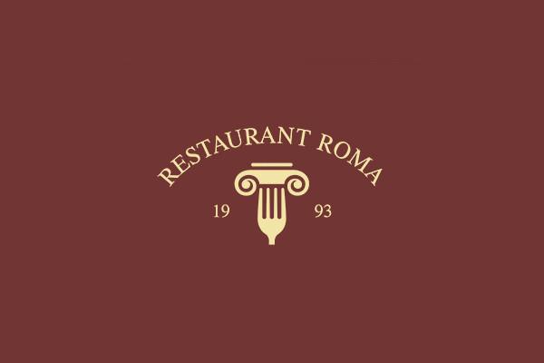 Restaurant roma Idea Logo