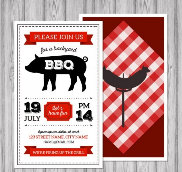 Retro BBQ flyer Design