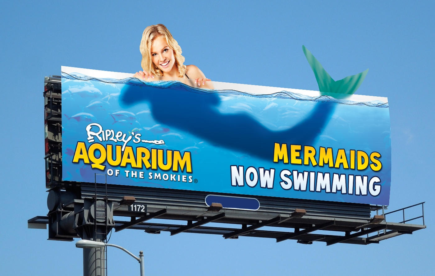 Ripley's Aquarium Advertising Billboard