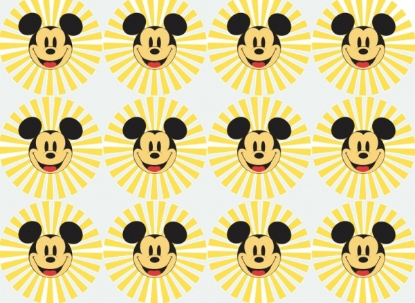 Round circled Mickey Mouse Pattern
