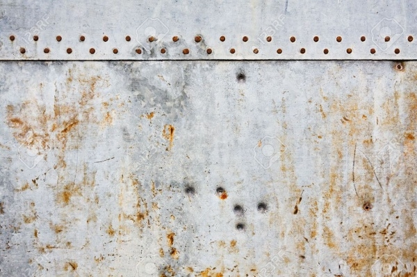 Rusted Gray Metal Wall