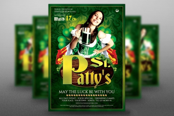 Saint Patricks Day Beer Flyer
