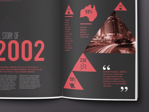 Scientific magazine Infographic Brochure