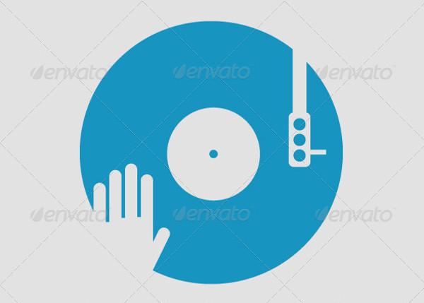Scratch Vinyl DJ Logo