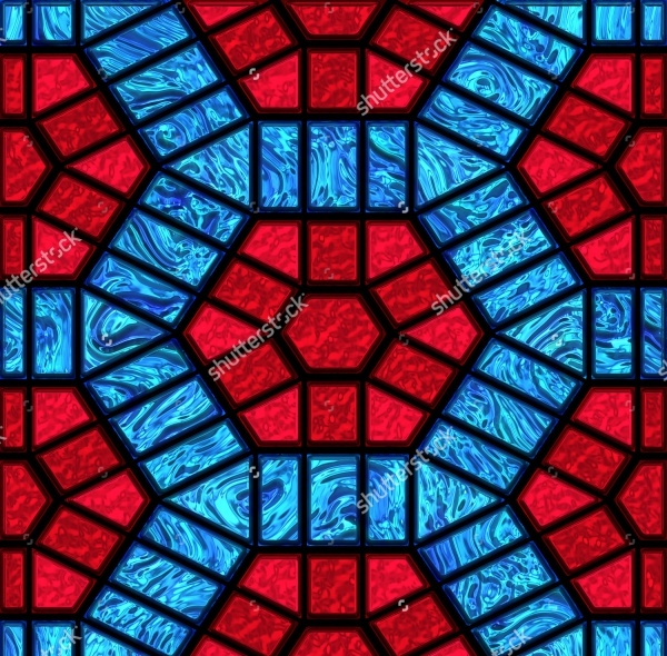 Seamless Bright Stained Glass Pattern