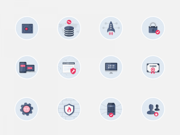 Security Flat Icons Pack