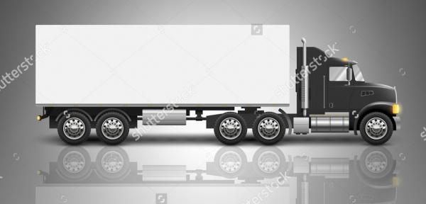 Semi Truck Advertising Mock-up